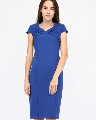 Платье осеннее синее Sfn