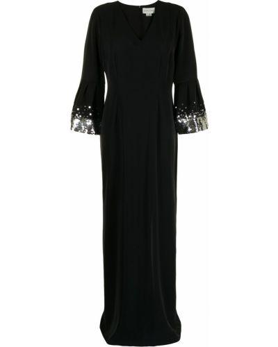 Czarna sukienka z długimi rękawami Sachin & Babi