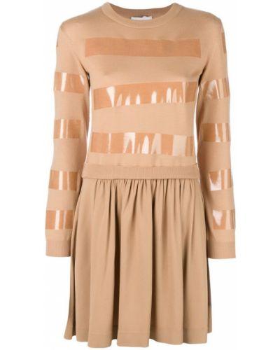 Платье в рубчик со складками Moschino