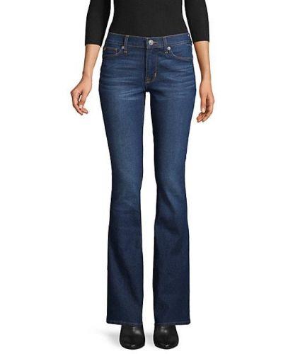 Хлопковые синие джинсы с карманами Hudson Jeans