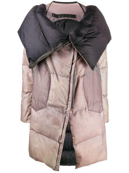 Кожаное длинное пальто с капюшоном с воротником Isaac Sellam Experience