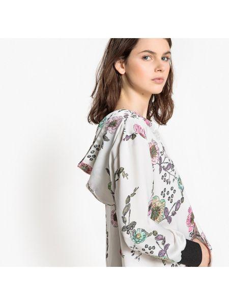 Платье мини с цветочным принтом с длинными рукавами прямое La Redoute Collections