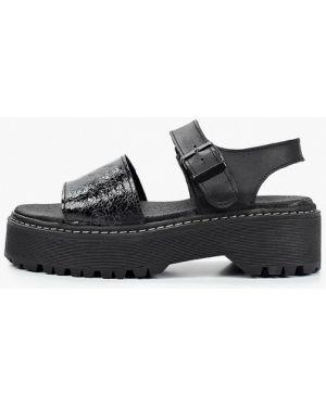 Кожаные черные сандалии El Tempo