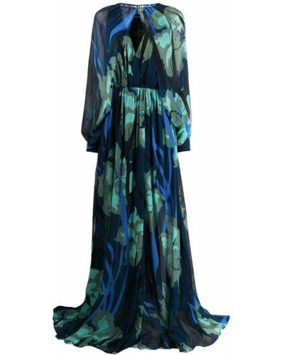 Платье с декольте с цветочным принтом Just Cavalli