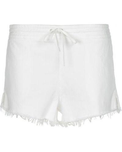 Джинсовые шорты короткие с бахромой Chloé