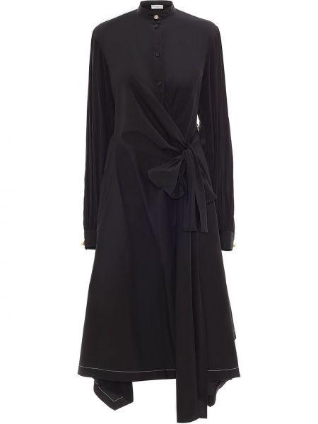 Платье миди на запах - черное Jw Anderson