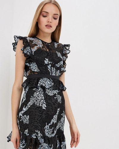 Вечернее платье черное Three Floor
