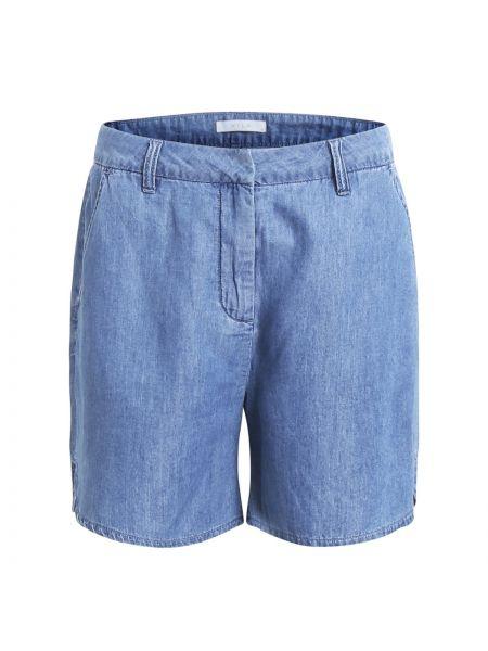 Синие шорты с поясом Vila