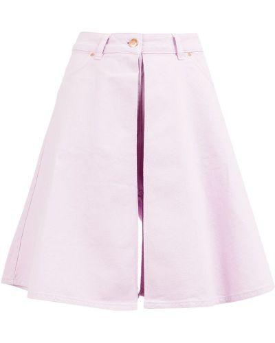 Фиолетовые джинсовые шорты с карманами со стразами Aalto