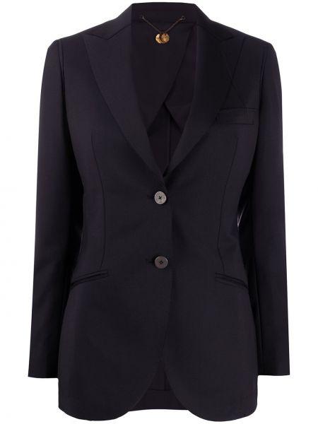 Черная куртка на пуговицах с воротником с лацканами Maurizio Miri