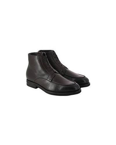 Коричневые кожаные ботинки Pellettieri Di  Parma