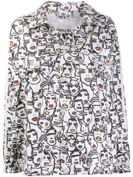 Джинсовая куртка длинная леопардовая Adidas