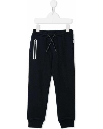 Спортивные прямые синие прямые брюки с поясом Paul Smith Junior