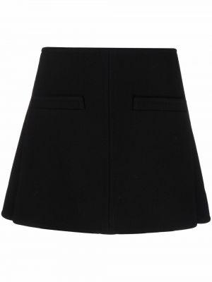Шерстяная юбка мини - черная Courrèges