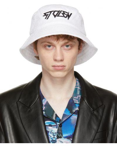 Czarny kapelusz bawełniany z haftem Stolen Girlfriends Club