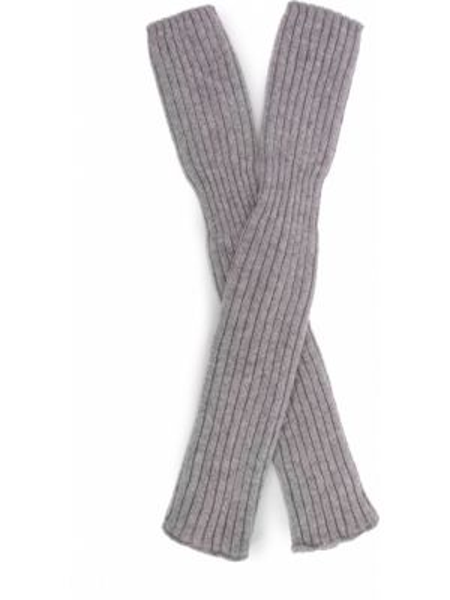 Вязаные шерстяные серые перчатки длинные Inverni