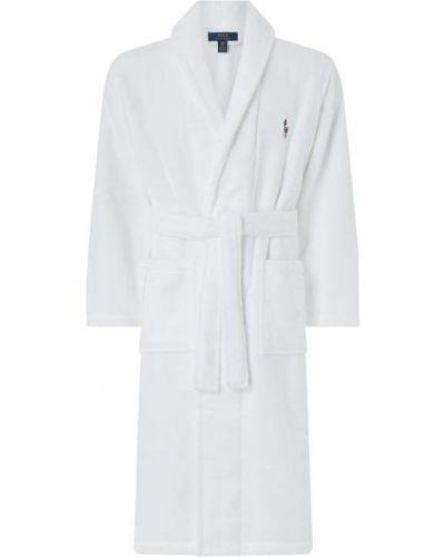 Szlafrok bawełniany - biały Polo Ralph Lauren Underwear