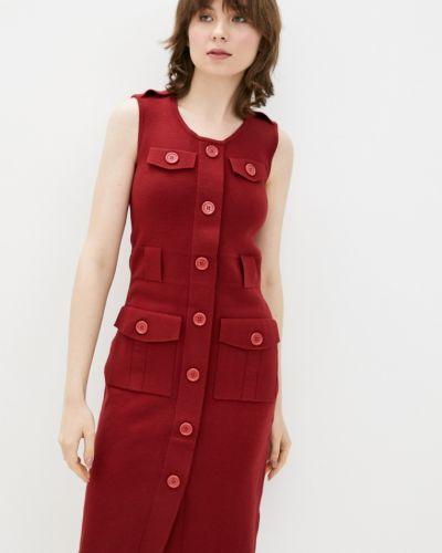 Бордовое весеннее платье Dasti