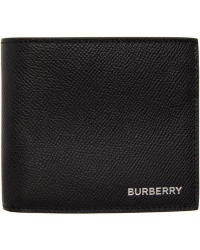 Текстильный черный кошелек с карманами Burberry