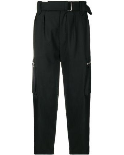 Черные брюки карго с поясом пэчворк для беременных Christian Pellizzari