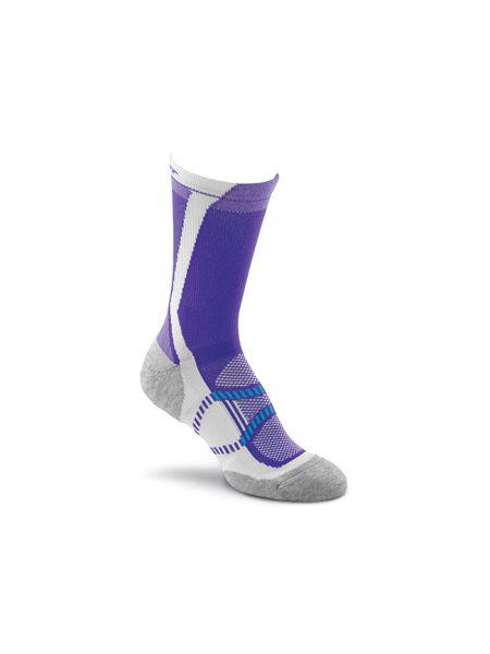 Фиолетовые нейлоновые спортивные компрессионные носки высокие Foxriver