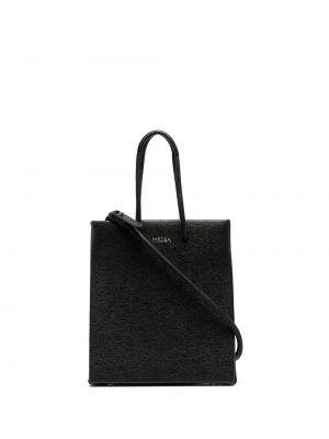 Czarna torba na ramię skórzana Medea