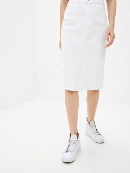 Джинсовая юбка белая осенняя Tommy Hilfiger