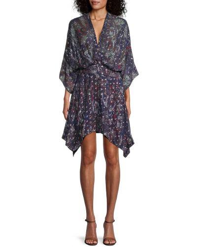 Фиолетовое платье с V-образным вырезом Iro