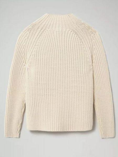 Хлопковый длинный свитер с воротником с длинными рукавами Napapijri