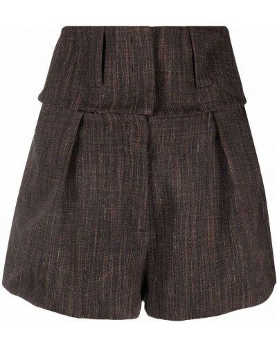 Коричневые шорты из полиэстера Krizia
