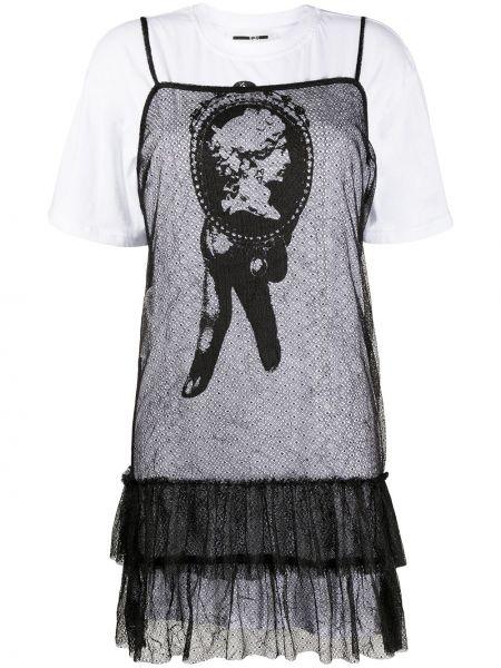 Платье рубашка - белое Mcq Alexander Mcqueen