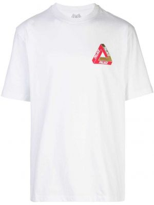 Клубная спортивная футболка оверсайз золотая Palace