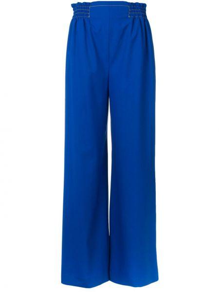 Синие прямые брюки с поясом Agnona