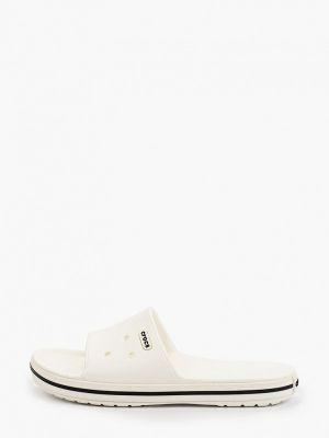 Белые пляжные шлепанцы Crocs
