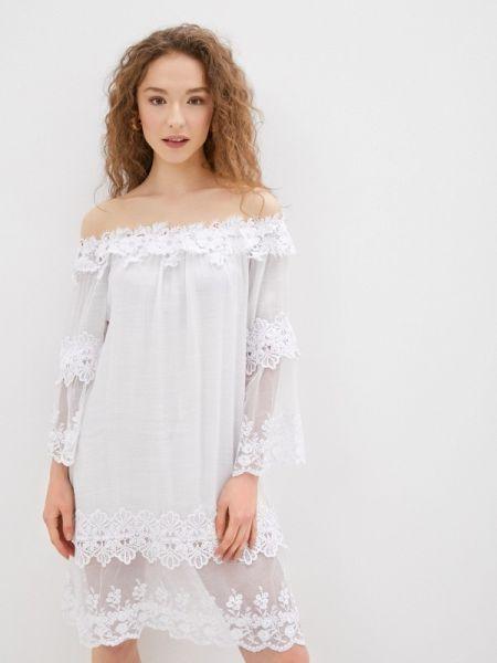 Платье с открытыми плечами весеннее By Swan