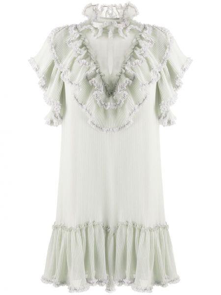 Платье мини прямое с оборками See By Chloe