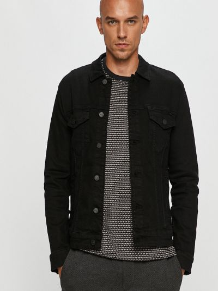 Хлопковая с рукавами джинсовая куртка с карманами Only & Sons