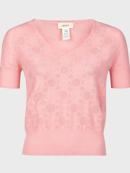 Футболка из вискозы - розовая Vicolo