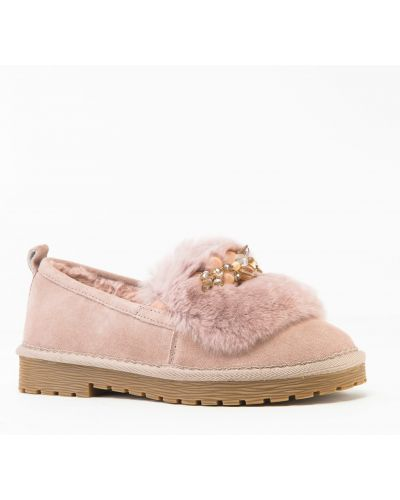 Замшевые туфли розовый Prima D'arte