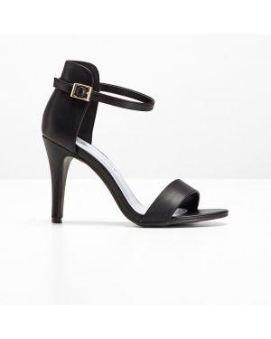 Босоножки на высоком каблуке на каблуке черные Bonprix