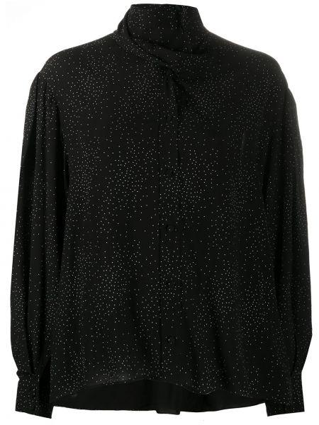 Черная блузка с длинными рукавами с манжетами Iro