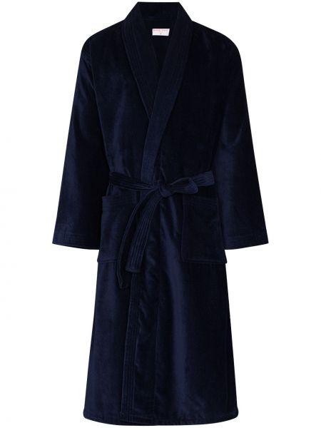 Szlafrok bawełniany - niebieski Derek Rose
