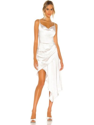 Свободное деловое белое платье Elliatt
