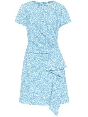 Синее платье мини из вискозы стрейч Jonathan Simkhai