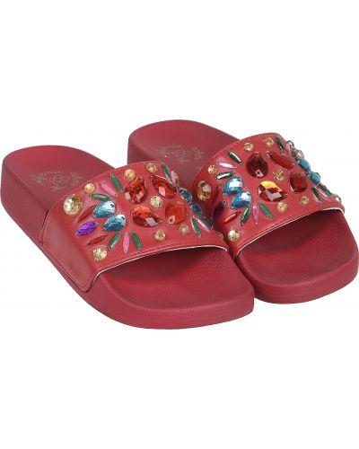 Красные пляжные шлепанцы Colors Of California