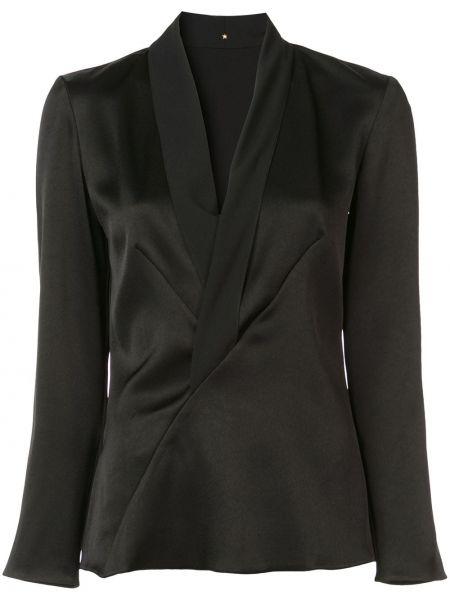 С рукавами черный пиджак с запахом с вырезом Peter Cohen
