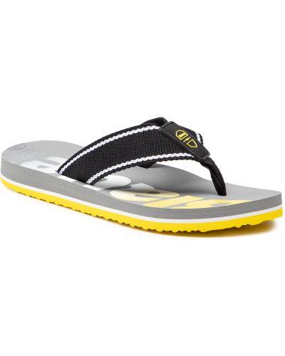 Czarne sandały japonki Blauer