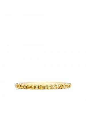 Кольцо с бриллиантом - желтое De Beers