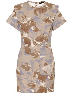 Beżowa sukienka mini safari bawełniana Isabel Marant