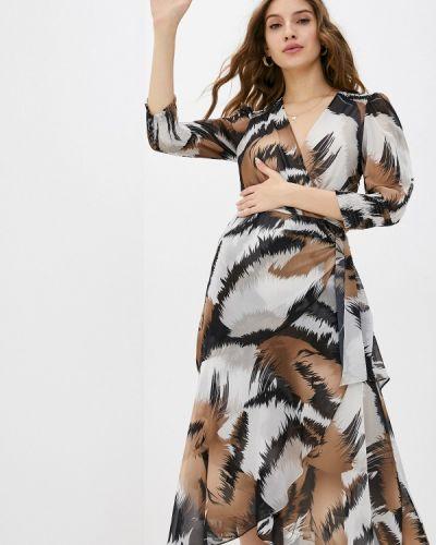 Коричневое прямое платье Mondigo